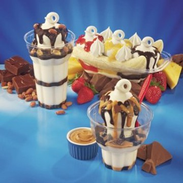 2 for 1 Banana Split or Peanut Buster Parfait